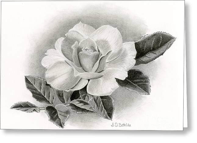 Summer Rose Greeting Card by Sarah Batalka