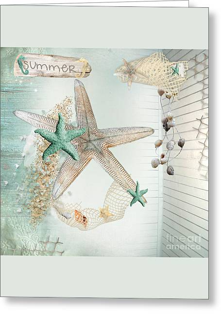 Summer Sea Treasures Greeting Card by Debra  Miller