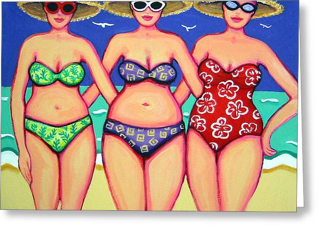 Summer Sisters - Beach Greeting Card by Rebecca Korpita