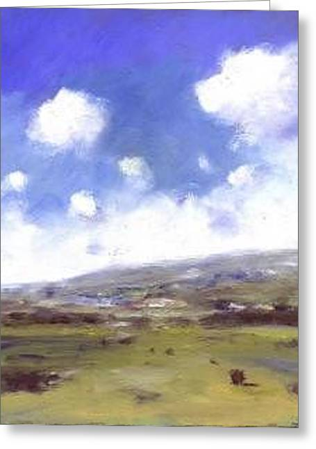 Summer Sky Over Brading Down Greeting Card by Alan Daysh