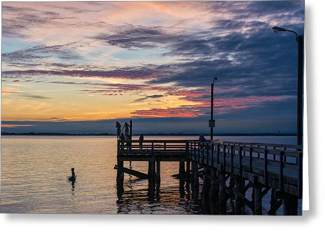 Summer Solstice At Crescent Beach Greeting Card by Paul W Sharpe Aka Wizard of Wonders