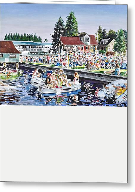 Summer Sound In The Park Greeting Card