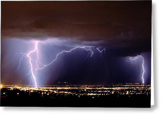 Summer Storm- Albuquerque 2009 Greeting Card