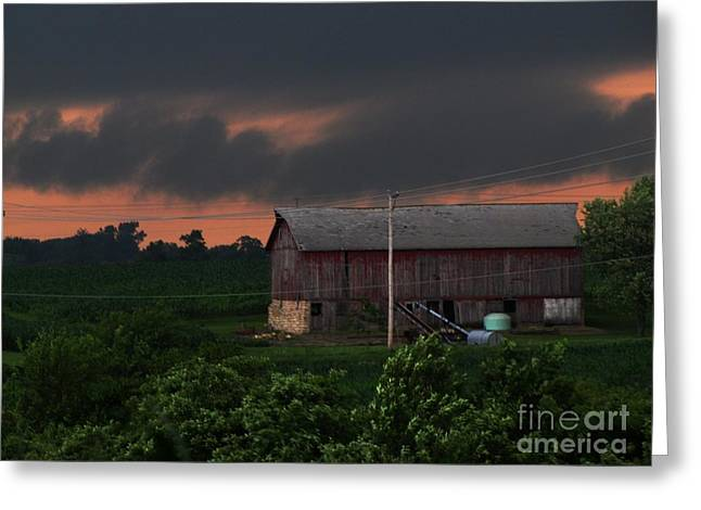 Summer Storm Brewing Greeting Card by Laurie Wilcox