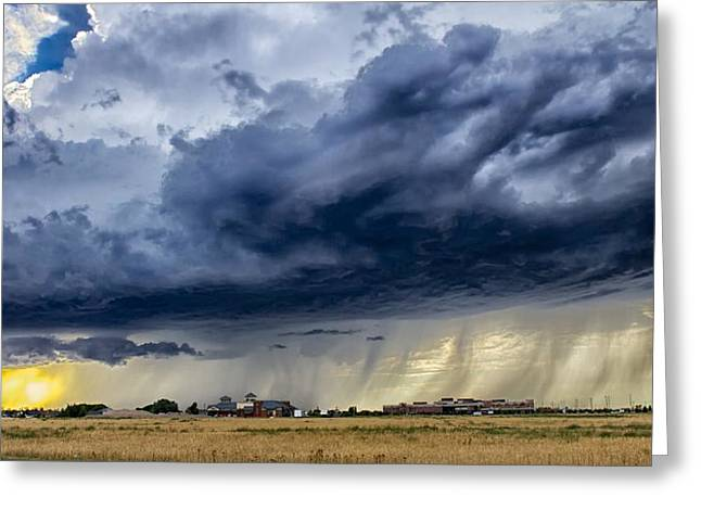 Greeting Card featuring the photograph Summer Storm Twin Falls Idaho by Michael Rogers