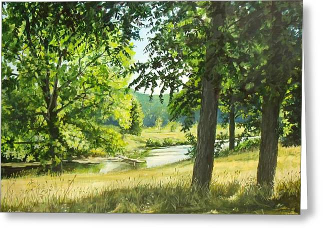 Summer Stream Greeting Card