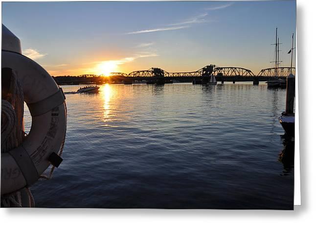 Summer Sunset In Sturgeon Bay Greeting Card by Jeremy Evensen