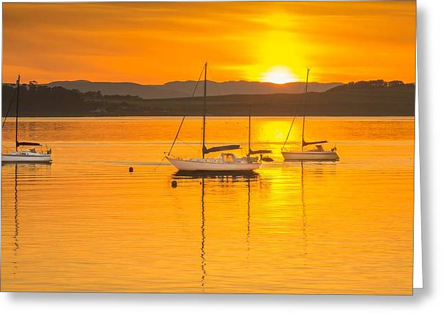 Summer Sunset On The River Clyde Greeting Card