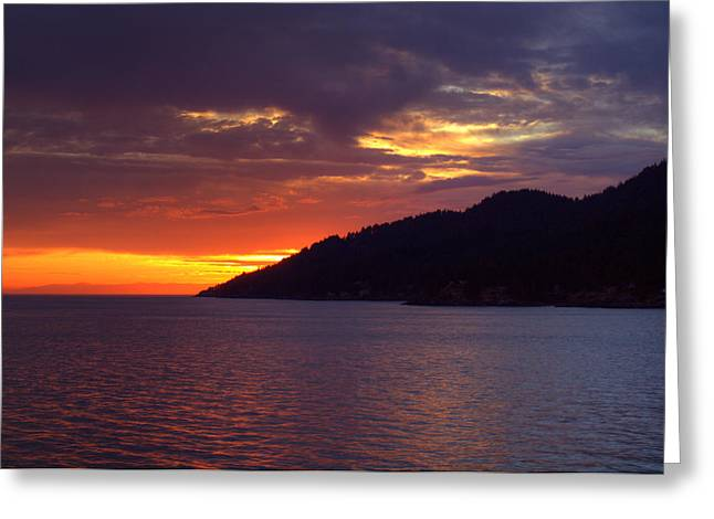 Summer Sunset Greeting Card by Randy Hall