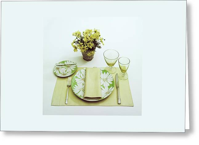 Summer Table Setting Greeting Card by Haanel Cassidy