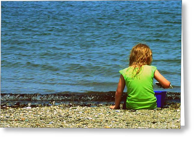 Summer Time On The Coast Of Maine Greeting Card by Christy Beal