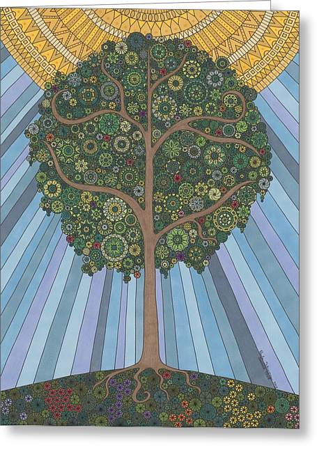 Summer Tree Greeting Card by Pamela Schiermeyer