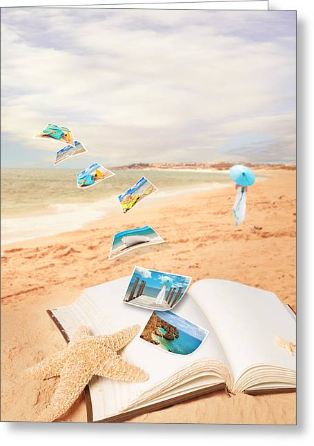 Summer Vacation Postcards Greeting Card by Amanda Elwell