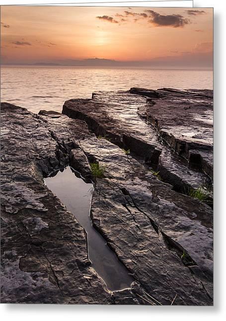 Summer-vermont-lake Champlain-sunset Greeting Card