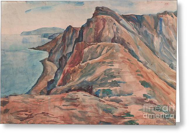 Summer View Of Koktebel Greeting Card