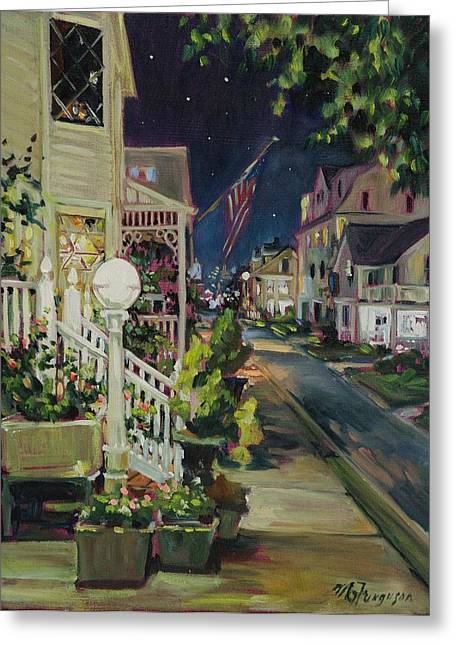 Summer Walk Home Greeting Card by MG Ferguson