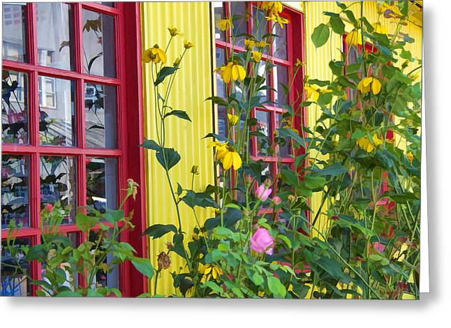 Summer Windows Greeting Card by Kathy Bassett