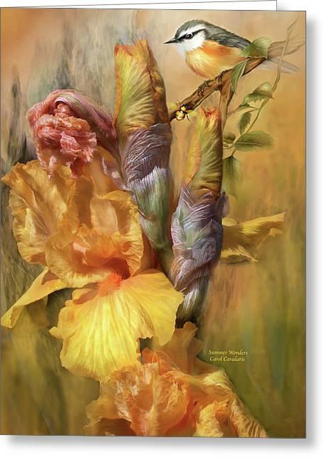 Summer Wonders Greeting Card by Carol Cavalaris