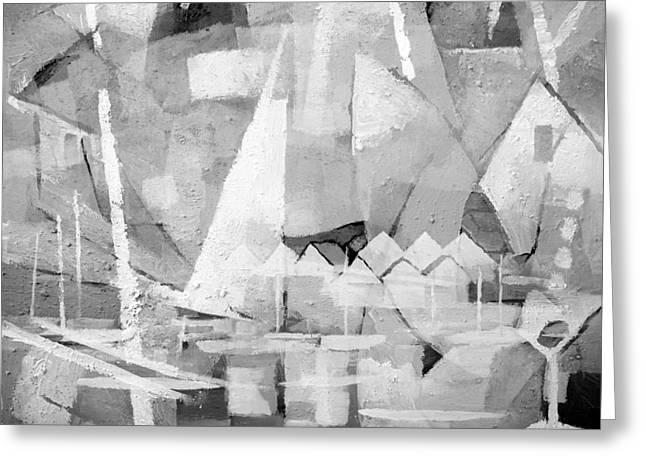 Summerlife Greyscale Greeting Card by Lutz Baar