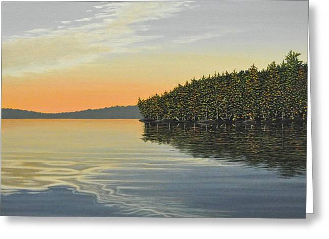 Greeting Card featuring the painting Summers End by Kenneth M  Kirsch