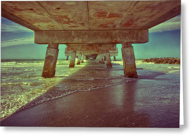 Summers Under The Pier Greeting Card by Nicholas Evans