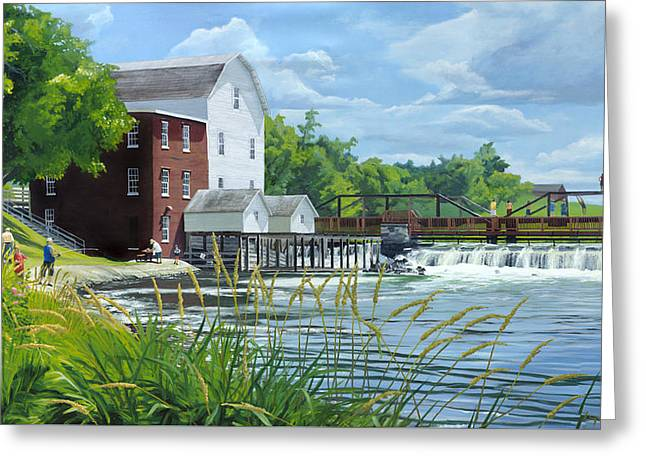 Summertime At The Old Mill Greeting Card