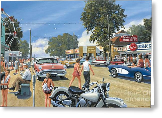 Summertime Greeting Card by Michael Swanson
