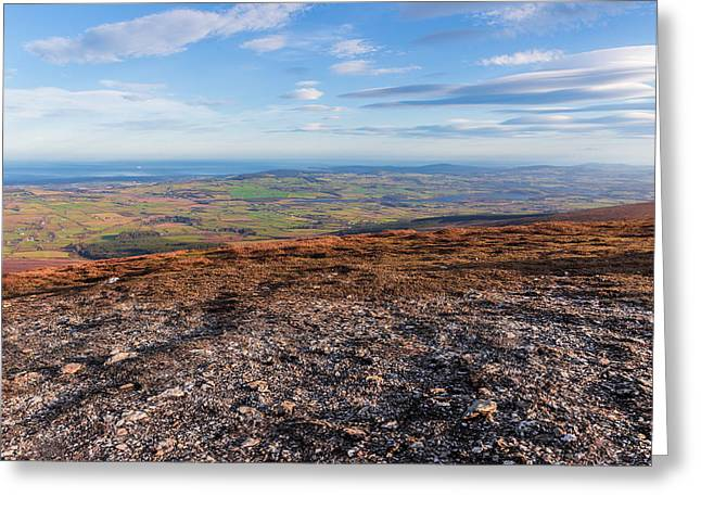 Summit Of Djouce Mountain In Wicklow Greeting Card by Semmick Photo