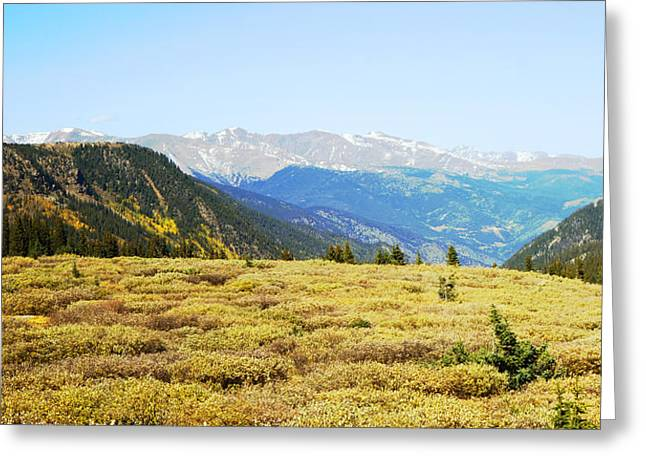 Summit View In Autumn Greeting Card