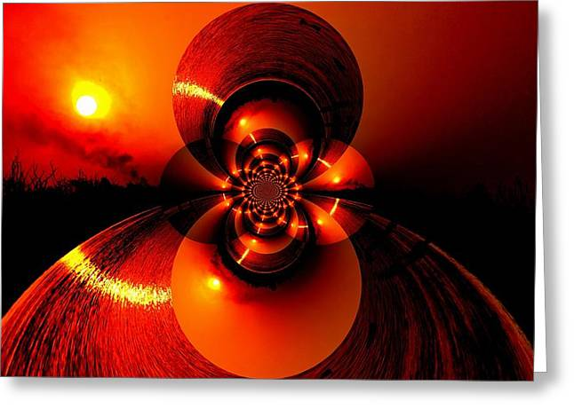 Sun Abstraction-3 Greeting Card by Anand Swaroop Manchiraju