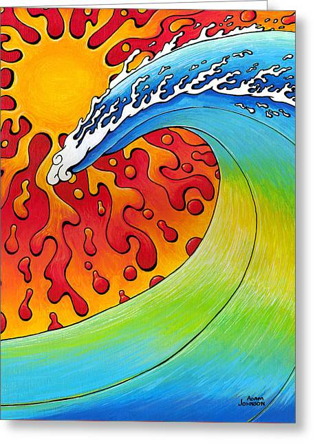 Sun And Surf Greeting Card