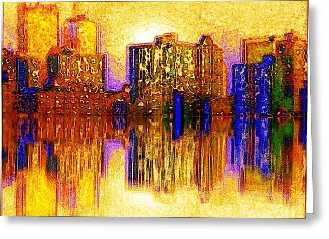 Greeting Card featuring the painting New York Heat by Holly Martinson