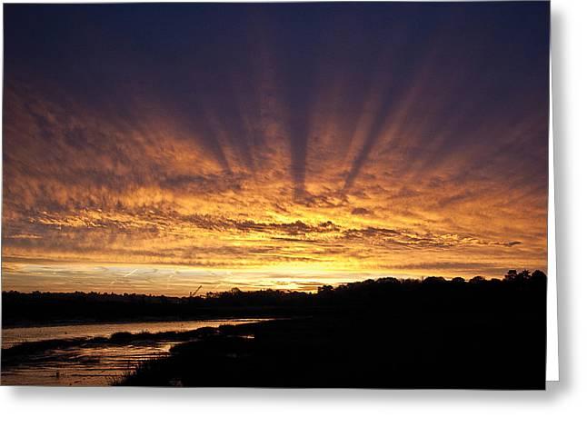 Sun Blast Greeting Card by David Davies