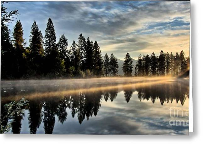 Sun Blessed Pond Greeting Card