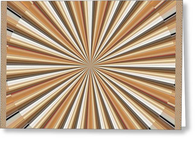 Sun Chakra Gold Round Circle Sparkle Motivational Decoration Yoga Meditation Tool Greeting Card