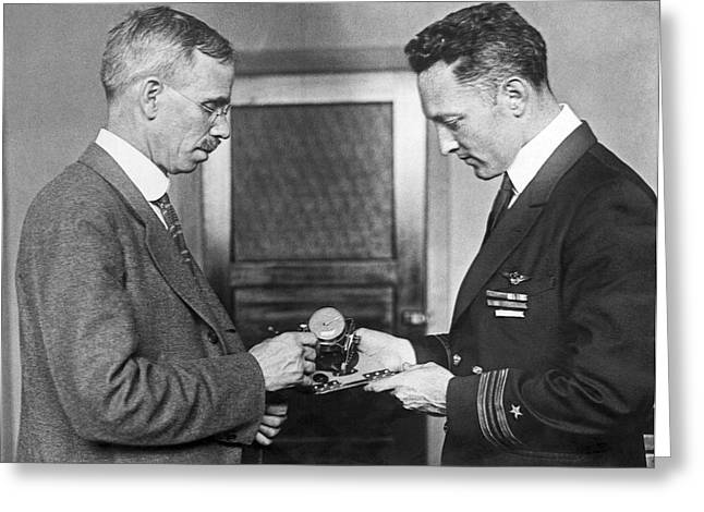 Sun Compass For Admiral Byrd Greeting Card by Underwood Archives