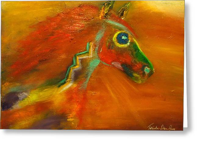 Greeting Card featuring the painting Sun Dance by Barbie Batson