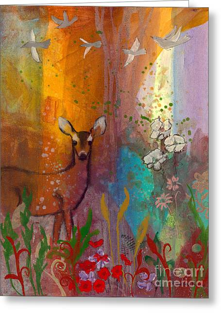 Sun Deer Greeting Card