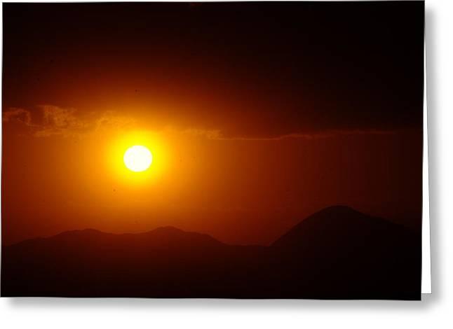 Sun Down On Mesea Verde  Greeting Card by Jeff Swan
