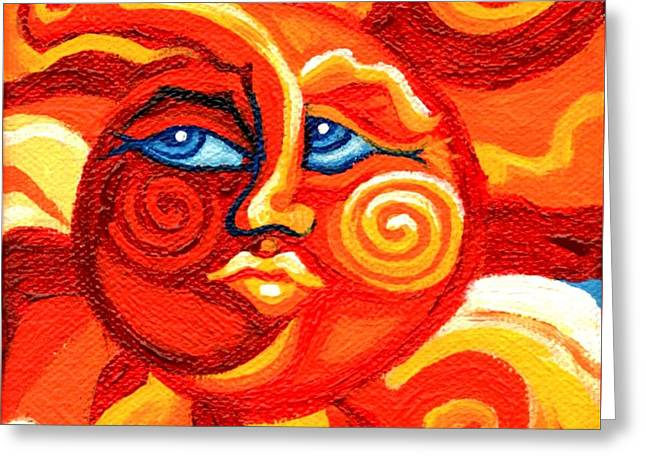Sun Face Greeting Card by Genevieve Esson