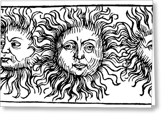 Sun Faces, Decorative Greeting Card by Granger