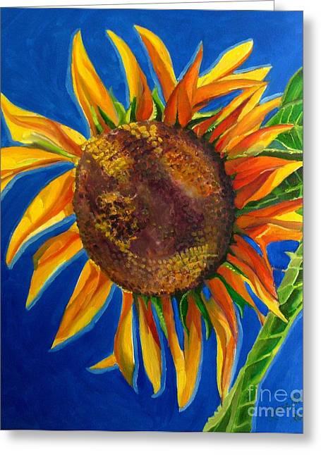 Sun Flower Greeting Card by Grace Liberator