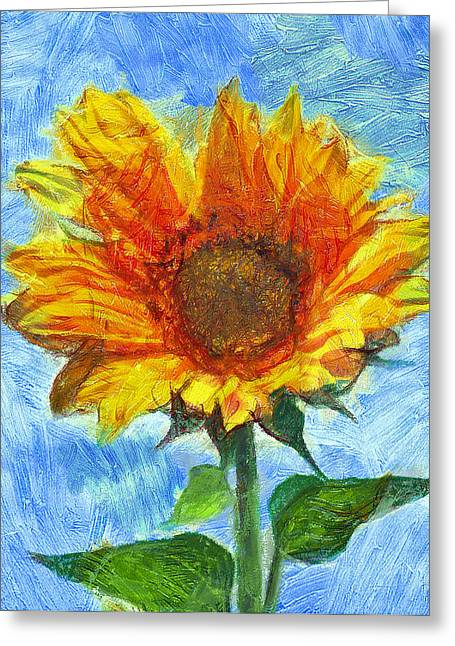 Sun Flowering 2 Greeting Card by Yury Malkov