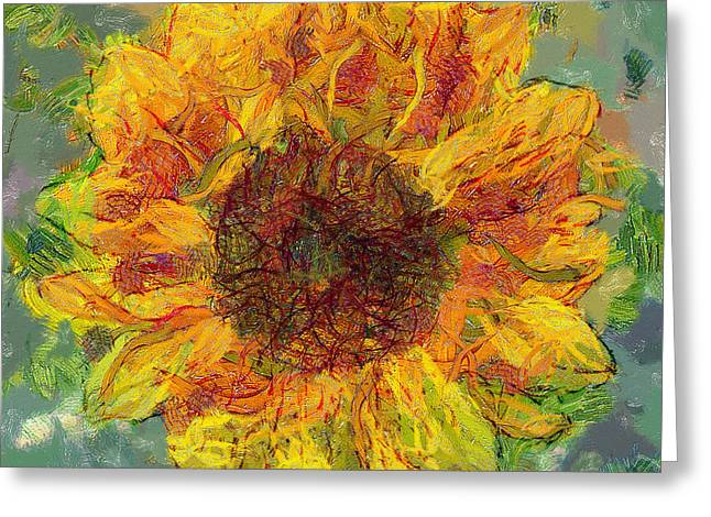 Sun Flowering 3 Greeting Card by Yury Malkov