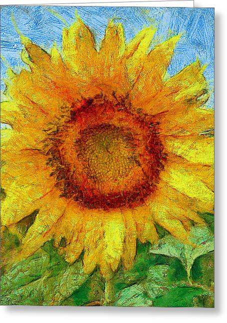 Sun Flowering 4 Greeting Card by Yury Malkov