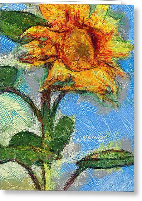 Sun Flowering 5 Greeting Card by Yury Malkov