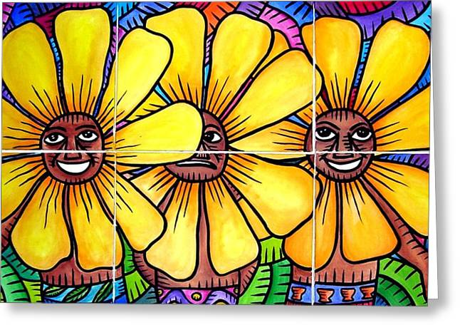 Sun Flowers And Friends 2008 Greeting Card