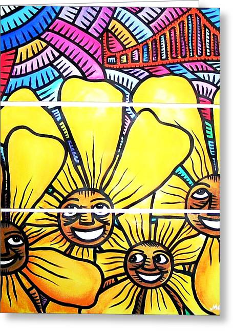 Sun Flowers And Friends Sf 1 Greeting Card