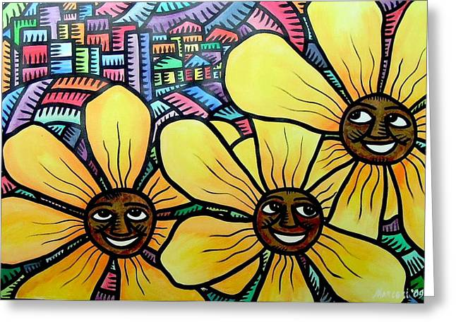 Sun Flowers And Friends Sf 2 2009 Greeting Card