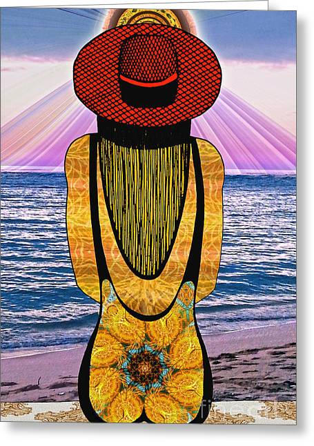Sun Girl's Back Greeting Card